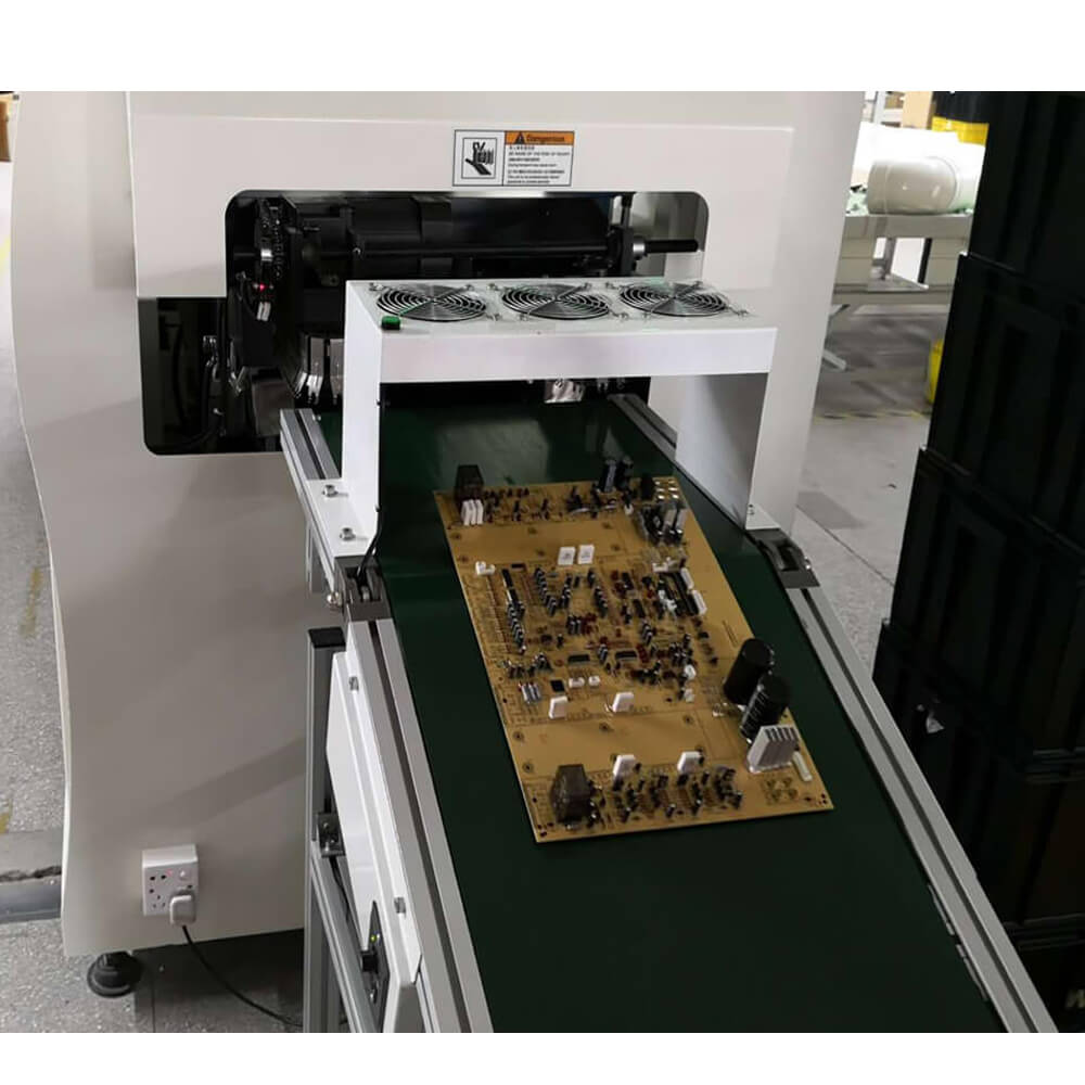 DIP pcb assembly unload conveyor wave solder outfeed conveyor