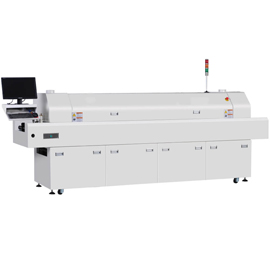 PC control 8 zones SMD lead free reflow oven machine