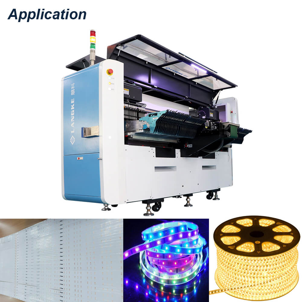 LK050 Limitless length smd led soft strip chip placement machine